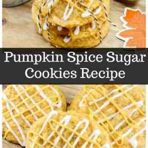 Fall inspired Pumpkin Spice Sugar Cookies Recipe