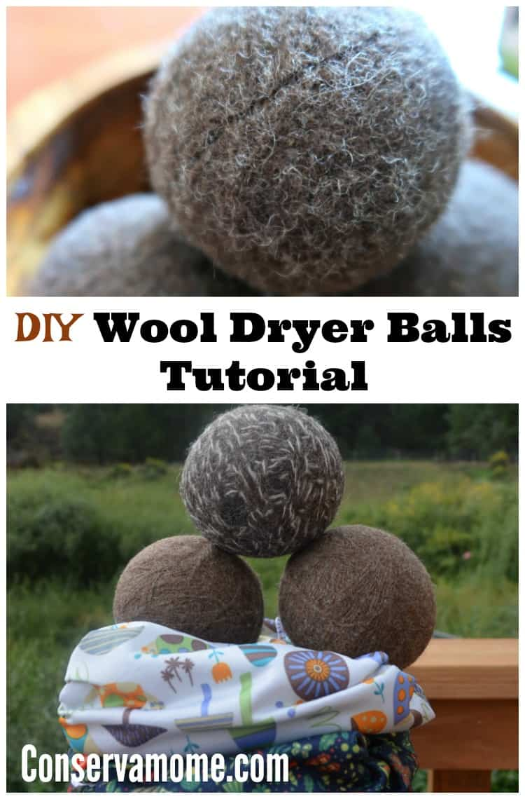 Do you love using Wool Dryer Balls but don't want to pay the price? Check out how easy it is to make them with this DIY Wool Dryer Balls Tutorial.