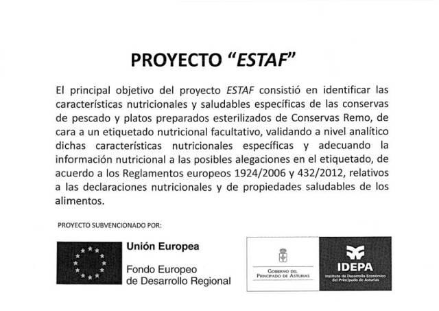 Proyecto cofinanciado ESTAF