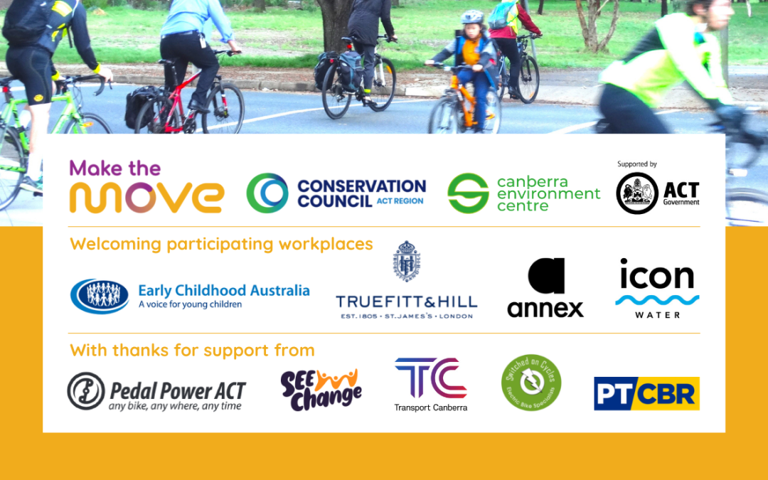 MEDIA RELEASE: Make the Move website and workplace program leads Canberra businesses and commuters into the future of sustainable transport