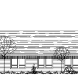 Rendering of Conservation Resource Center facing Beavercreek Road