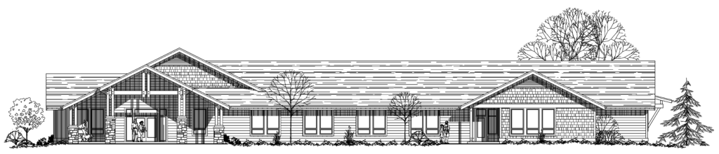Rendering of Conservation Resource Center facing Beavercreek Road (image by 4Sight Consulting LLC)