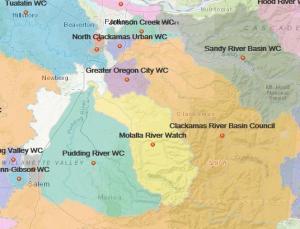 2019 OWEB Map for Clackamas County