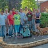 Rain garden construction team