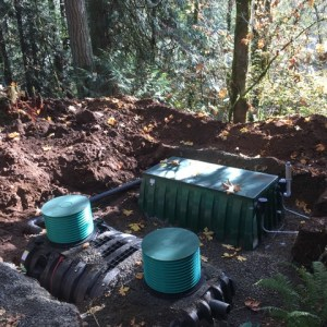New septic system in ground.