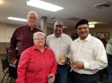 District Staff Tami Guttridge, Board Members Jim Johnson and Don Guttridge, Associate Board Member PK Melethil