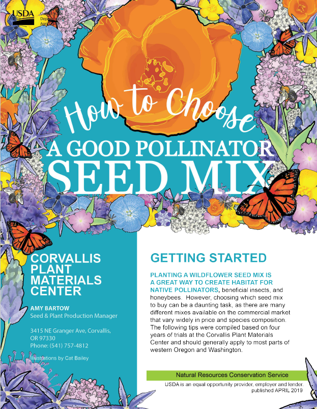 Click on image to view How to Choose a Good Pollinator Seed Mix.