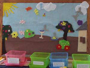 Yerenice and Cynthia's interpretation of a pollinator garden.