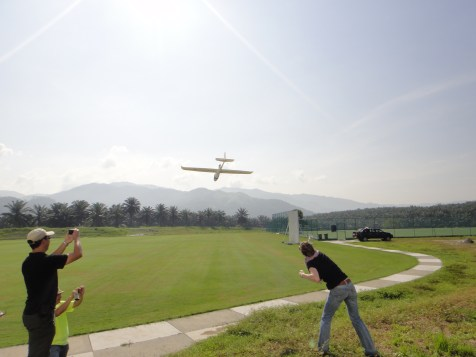 Practical training of UAV launching in Peninsular Malaysia