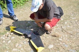 WWF Nepal staff, Madhav Khadka, examining the Caipy