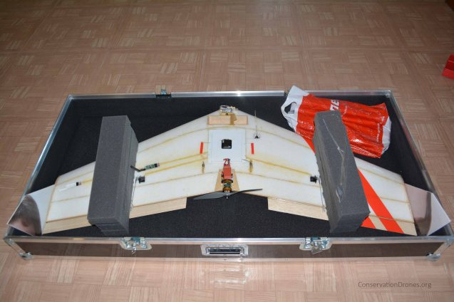 Vanguard video drone in its case