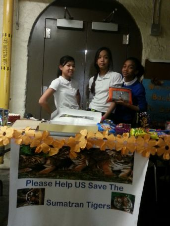 Students running the bake sale