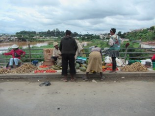 Some street side stalls selling some local produce