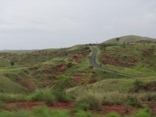 Long roads snakes along the landscape