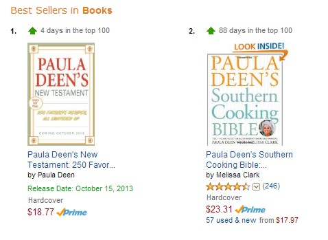 Upcoming book is #1 and her last book has shot up to #2 on amazon.com