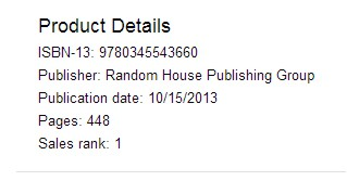 Already ranked #1 on Barnes & Nobles.