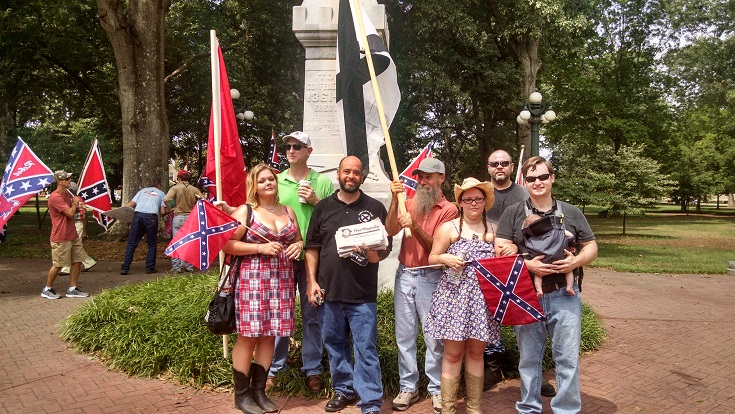 "League of the South participates In ""Marching Through Oxford"" rally at Ole Miss in August 2014"