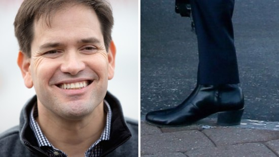 Marco Rubio's boots