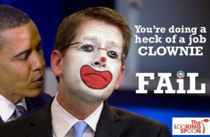 Jay Carney as clown