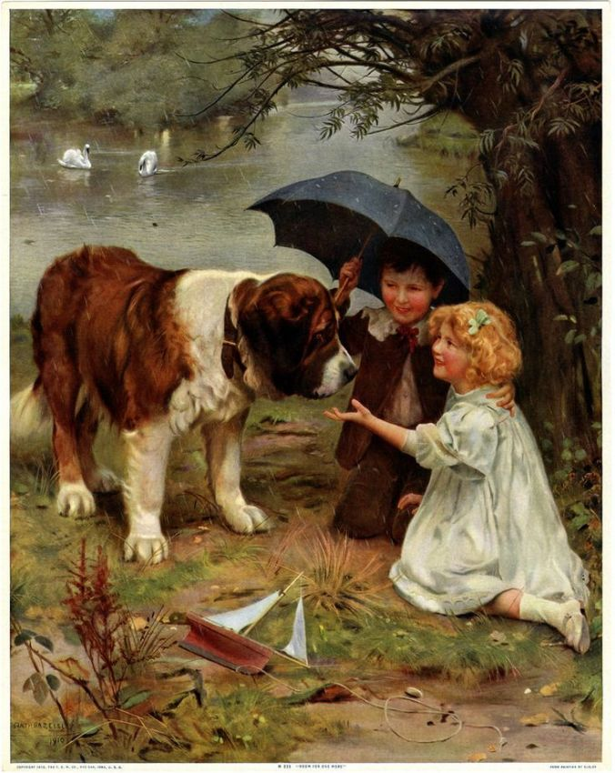 a8255667e85d0b183ecaeb778ea796ad--dog-paintings-st-bernards