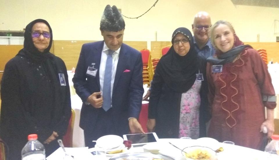 Group photo at the iftar