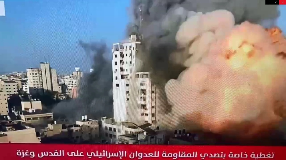 Breaking Video_ Israeli Airstrikes Cause Collapse of Al-Shorouk Tower Buildings