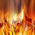 http://www.dreamstime.com/royalty-free-stock-photography-money-burning-flames-image16934007