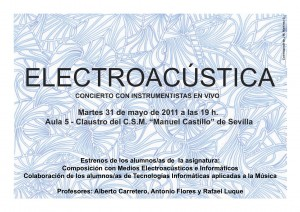 Concierto — estrenos del alumnado de Composición con Medios Electroacústicos