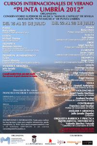 Cursos internacionales de verano Punta Umbría 2012