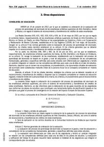 Orden de 16 de octubre de 2012 (BOJA)