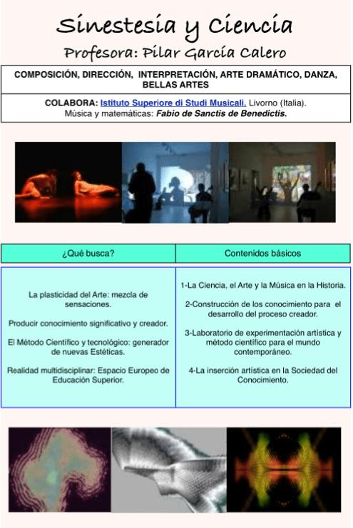 Sinestesia - optativa curso 2014-15