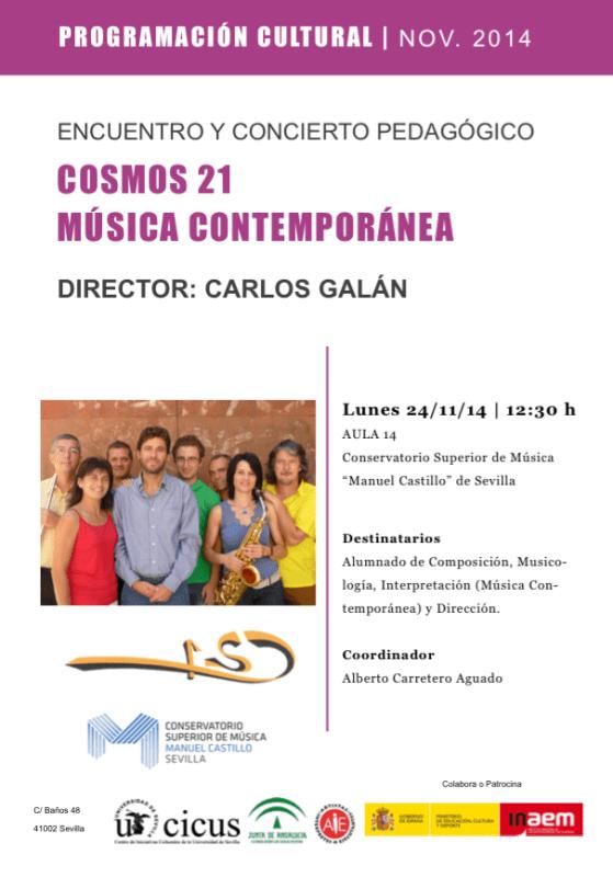 Encuentro y concierto pedagógico — Grupo Cosmos 21