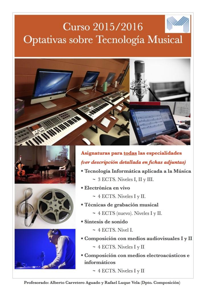 Optativas de Tecnología Musical, curso 2015-2016
