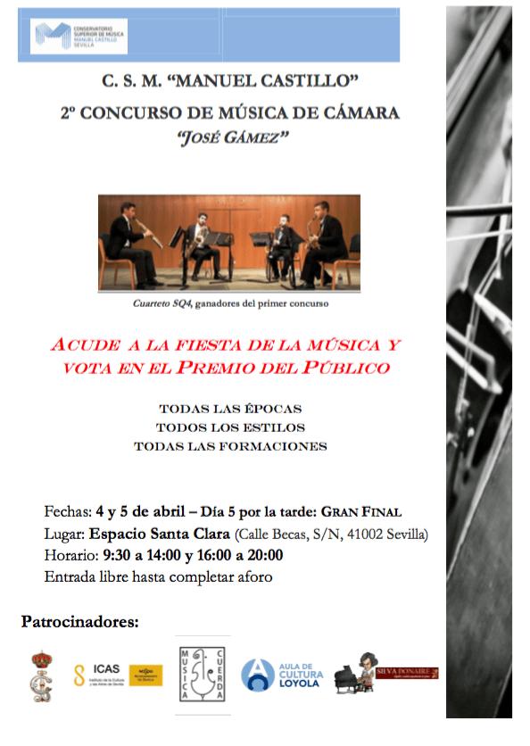 "Acude al II Concurso de Música de Cámara ""José Gámez"""