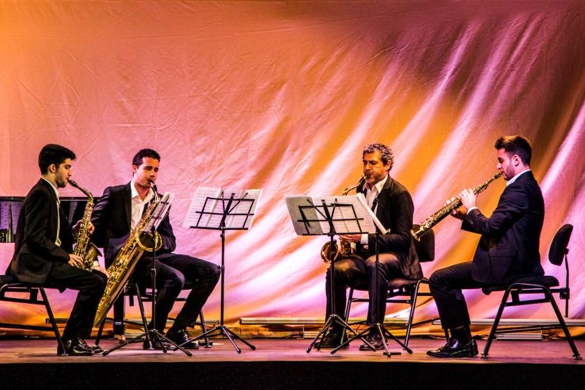Segundo Premio: Cuarteto de saxofones. Cano, Sagrado, Fernández y Plaza