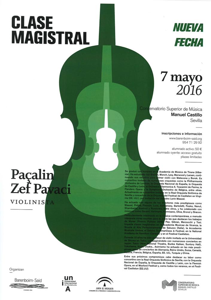 Clase magistral de violín — Paçalin Zef Pavaci