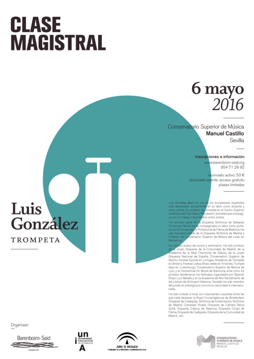 Clase magistral de trompeta — Luis González