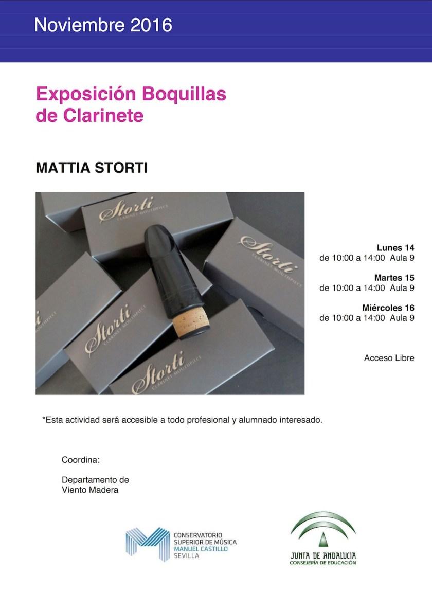Exposición Boquillas de Clarinete — Mattia Storti