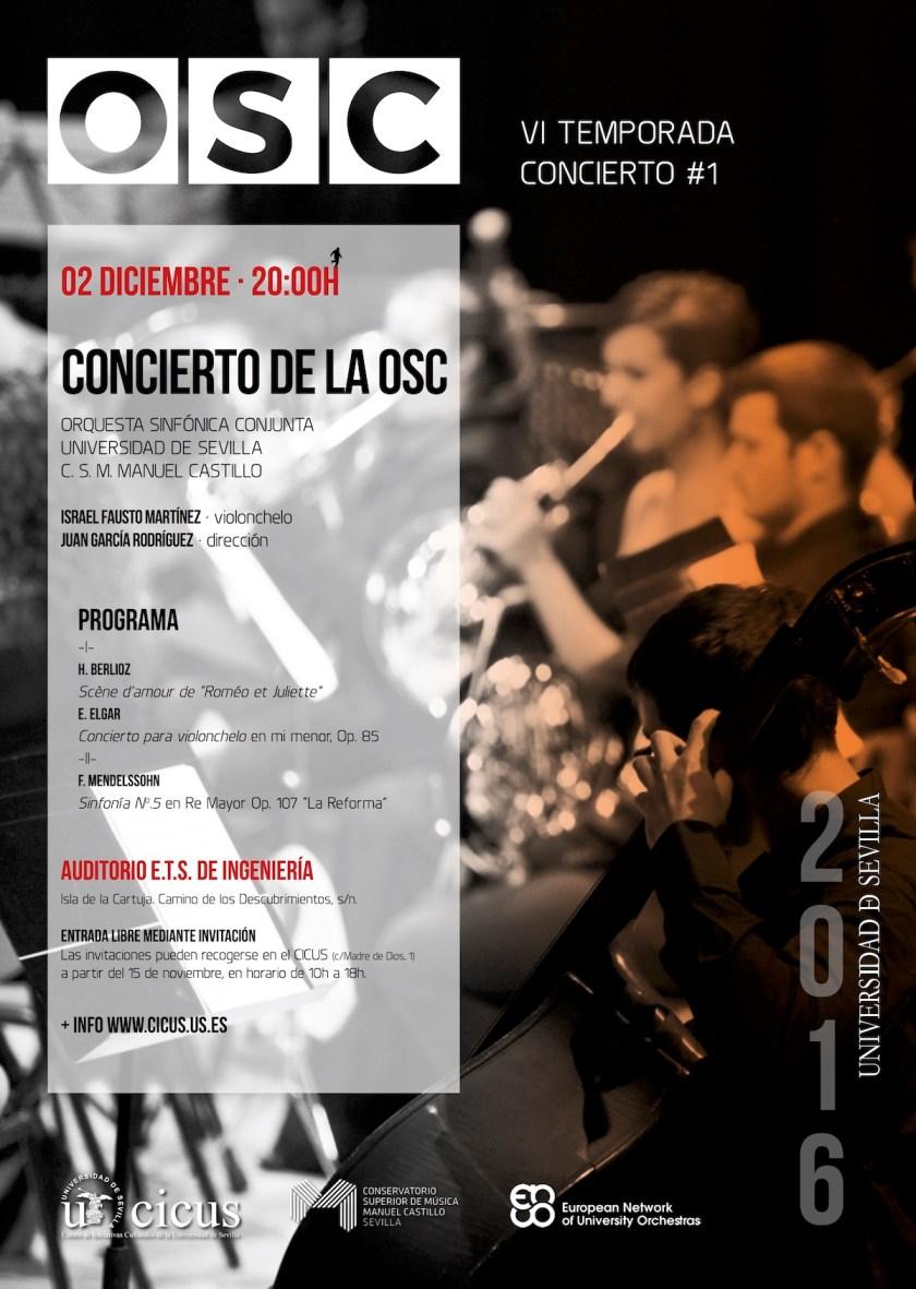 Primer concierto de temporada 2016-2017 de la Orquesta Sinfónica Conjunta OSC