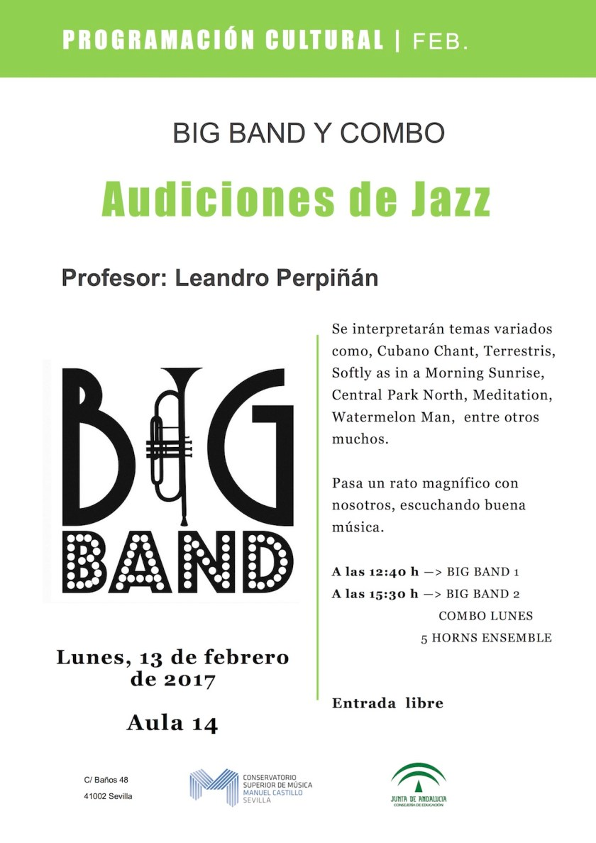Audición de Jazz — Big Band y combo