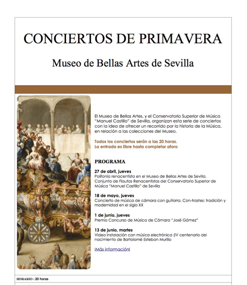 Ciclo «Conciertos de Primavera en el Museo de Bellas Artes de Sevilla»