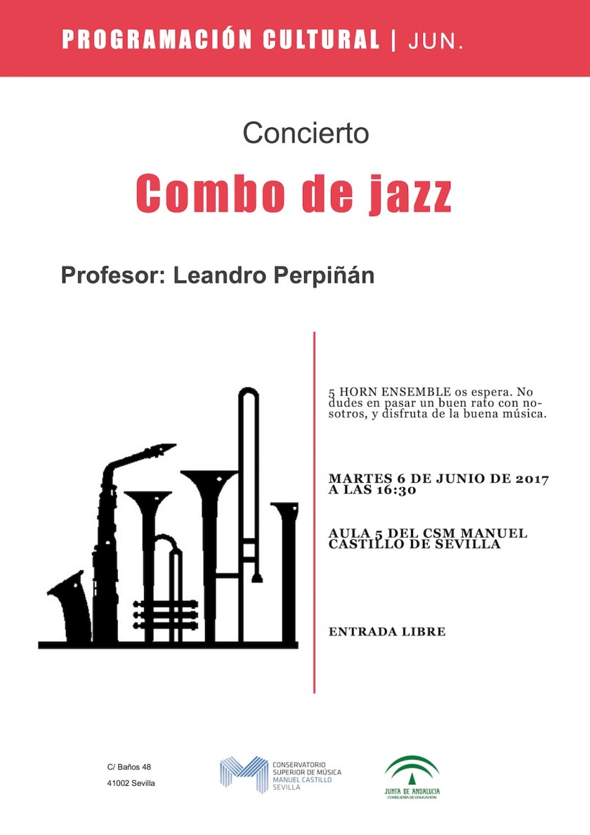 Conciertos de Combo de Jazz – junio 2017