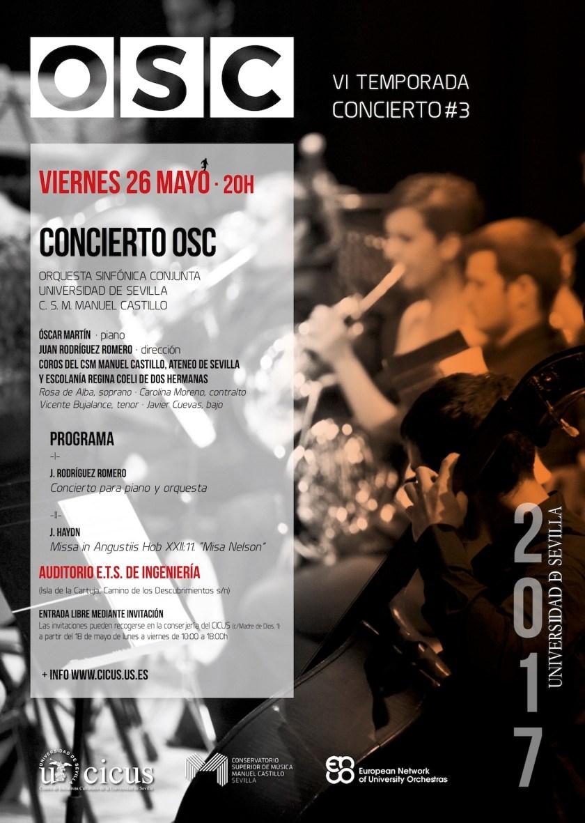 Tercer concierto de la temporada 2016-2017 de la Orquesta Sinfónica Conjunta (OSC)