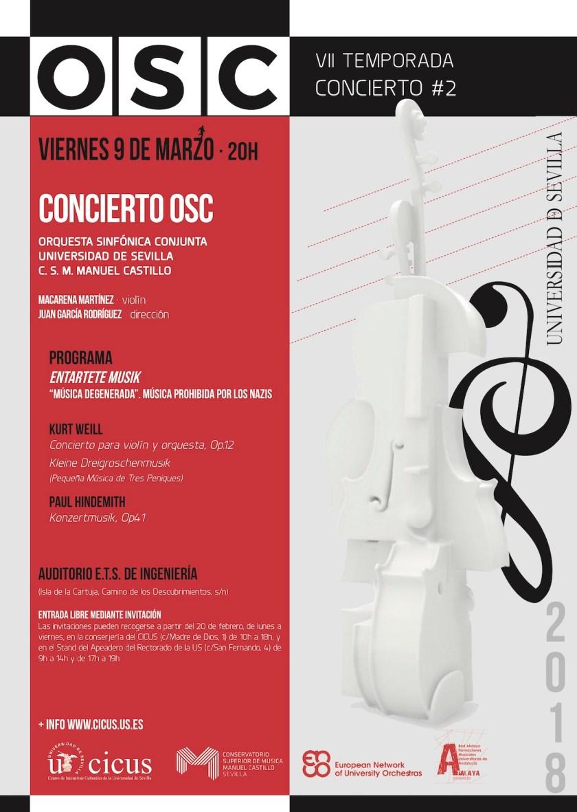 Segundo concierto temporada 2017-2018 Orquesta Sinfónica Conjunta (OSC)