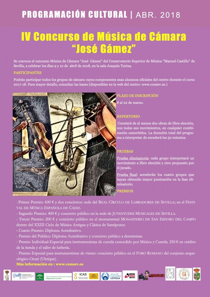 IV Concurso de Música de Cámara «José Gámez»