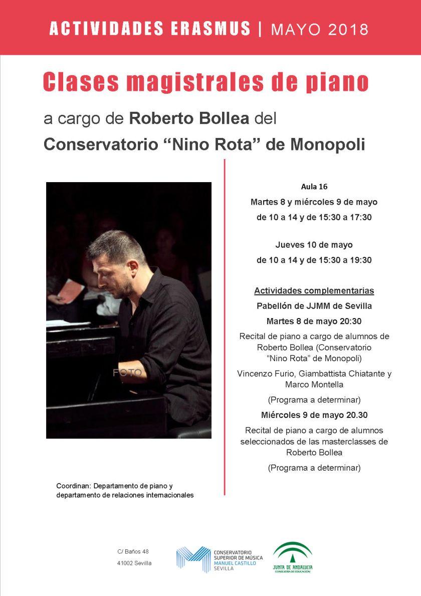 Masterclass de piano —Roberto Bollea