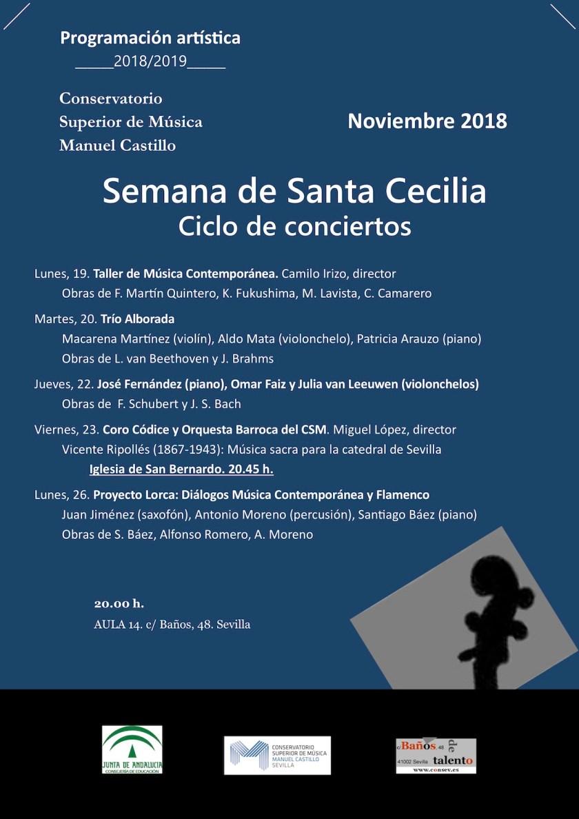 Santa Cecilia 2018 — Conciertos