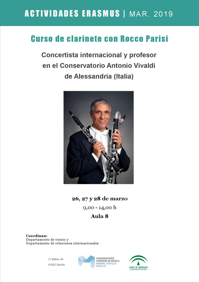 Curso de clarinete y concierto — Rocco Parisi
