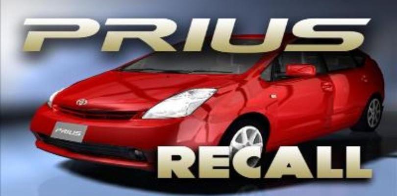 Prius Recall consider the consumer