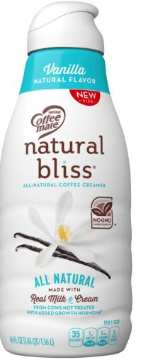Coffee Mate Natural Bliss Vanilla Creamer.